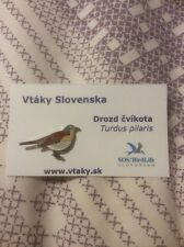 RSPB SOS/Birdlife Slovakia Pin Badge Fieldfare