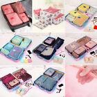 Flower Pattern Travel Large Packing Cube Luggage Organizer Storage Bag  6Pcs set