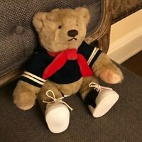 NEW VINTAGE 1982 GUND BEAR Bialosky & Friends Jointed SAILOR with Saddle Shoes