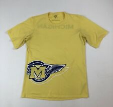 Unisex Patagonia Yellow/Blue Univ of Michigan S/S Poly Sport Tech Shirt Sz M