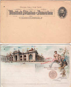 UX10 tied to 1893 World's Columbian Exposition Unused Souvenir Postal Card