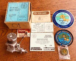 Vintage 44th Nats BENDIGO, 5cc, model aircraft, airplane engine . Circa 1990