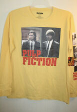 "Pulp Fiction ""John Travolta & Samuel L. Jackson"" Men's Long Sleeve Tee Yellow XL"