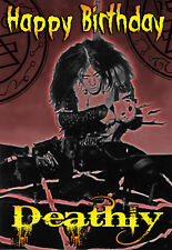Happy Halloween Birthday BATHORY DEATH BLACK HEAVY METAL band PERSONALISED Card