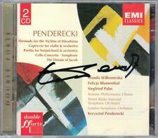 PENDERECKI Signed Cello Concerto Symphony Canticum Capriccio Hiroshima Anaklasis