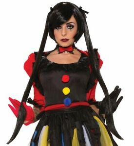 Twisted Attractions Midnight Magic Clown Black Wig Adult Costume Accessory NEW