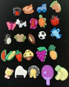 Lot of 25 Whimsical Modern Snap-Apart Buttons