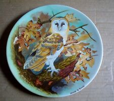 Coalport Collectors Plate BARN OWL From THE WISE OWL Boxed With Certificate