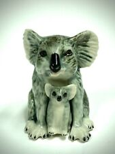 Rare Pair Porcelain Figurines Australian Koala Bear & Baby Exotic Animals Bears