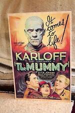 "Boris Karloff as The Mummy Movie Poster Tabletop Display Standee 10.5 X 7"" Tall"