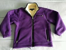 Women's Misty Harbor Polyester Lined Full Zip Purple Fleece Jacket Sz. Medium