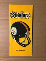 1978 Pittsburgh Steelers Football Media Guide VERY GOOD Condition