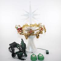 Star Hallmark Tree Topper Here Comes Santa Claus 2 Remotes & Magic Cord (VIDEO)