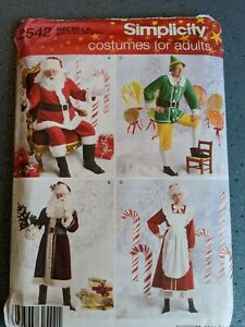 Simplicity 2542 Christmas Costume Sewing Pattern