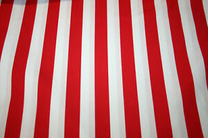 RED AND WHITE STRIPE - 100% COTTON FABRIC