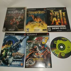 PS2 Demo Disc LOT - * Maximo * Prince Of Persia * XIII * Ratchet & Clank * ATV