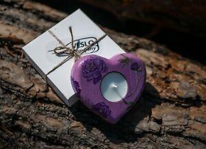 Tealight holder-Wooden Candle Holder-Decoupage tealight holder-Handmade item