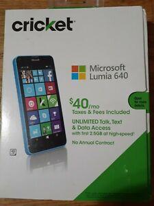 Nokia Lumia 640 (RM-1073) 8GB - Blue (Cricket) Windows Phone   New in box