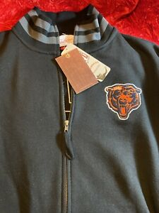 Chicago Bears Mitchell & Ness Throwbacks Fleece Jacket Size Large NWT!