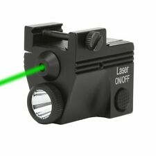 Rechargeable Green Laser and Strobe Flashlight Combo Pistol Sight Picatinny Rail