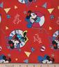 Disney Minnie Nautical Yoo Hooo!  Red 100% Cotton Fabric by the Yard