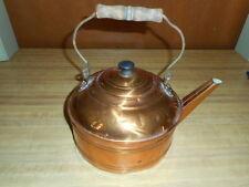 Vintage Copper Kettle Tea kettle Wood Handle Original