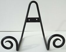 Wrought Iron Plate, Bowl, Book, Artwork Display Stand Easel scrolled swirl metal