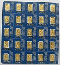 2 x 1 GRAM PAMP SUISSE MultiGram GOLD BARS .9999 PURE