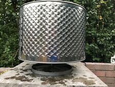 Fire Pit * Washing Machine Drum * Stainless Steel * With Own Stand * Sent In Box