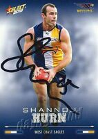 ✺Signed✺ 2016 WEST COAST EAGLES AFL Card SHANNON HURN