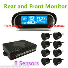 Car LCD Display 8 Parking Sensor Front&Rear Reversing Backup Radar Alarm System