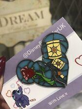 Split Disney Fantasy Heart Pin Rapunzel Tanged Beauty Beast Rose LE Limited