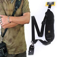 Black Single Shoulder Sling Belt Strap For Canon EOS Rebel T1i T2i XS XSi 10D