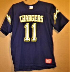 SAN DIEGO CHARGERS JIM EVERETT #11 NAVY RAWLINGS NFL Football Size XL JERSEY