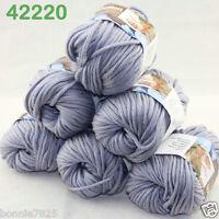 Sale Lot 6ballsx50g Soft Worsted Cotton Chunky Bulky Hand Knitting Shawl Yarn 20