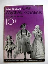 1935 Dennison's How to Make Gay Costumes Out of Crepe Paper Booklet