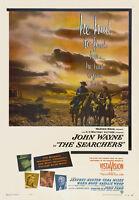 The searchers John Wayne vintage movie poster print