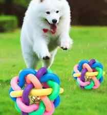 Pet Dog Puppy Colorful Dental Teething Healthy Teeth Chew Training Play Ball Toy
