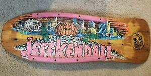Santa Cruz Jeff Kendall Pumpkin 1986 Deck Old School OG