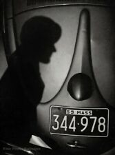 1959 Vintage ANSEL ADAMS Shadow And Automobile Car Massachusetts Photo Engraving