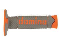 Domino Suave Mano Diamante Motocross Enduro Grips-Gris y Naranja