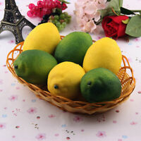 1/6Pcs pcs Limes Lemons Decorative Plastic Artificial Fruit Imitation Fake, T7U3