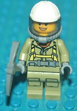 LEGO VOLCANO MINIFIGURE FEMALE WITH AIR TANKS,MASK,PICKAXE NEW
