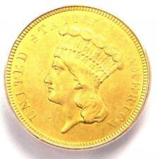 "1854-O Three Dollar Indian Gold Coin $3 - ICG AU55 Details - Rare ""O"" Mint!"