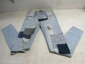 Amiri Women's US 30 Patchwork Jeans -Denim