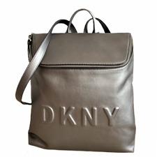 DKNY Tilly Top Zip Medium Backpack Gunmetal Gray