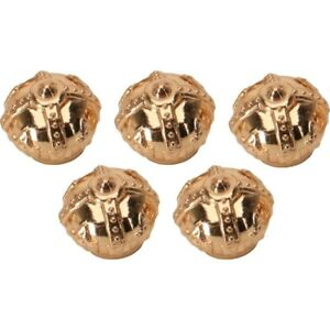 Gold Crown Valve Stem Caps - set 5