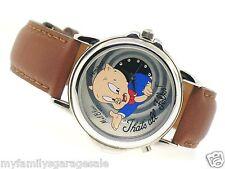 Armitron Warner Brothers Porky Pig Watch Mel Blanc Voice Thats All Folks 1998