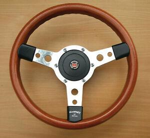 Original 1970/80's  Mountney 13in Mini Cooper  3 Spoke Woodrim Steering Wheel
