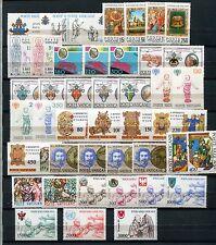VATICANO 1979-80 Gomma integra, non linguellato Complete Collection 43 FRANCOBOLLI